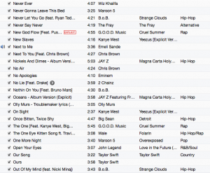 Screenshot of my Playlist
